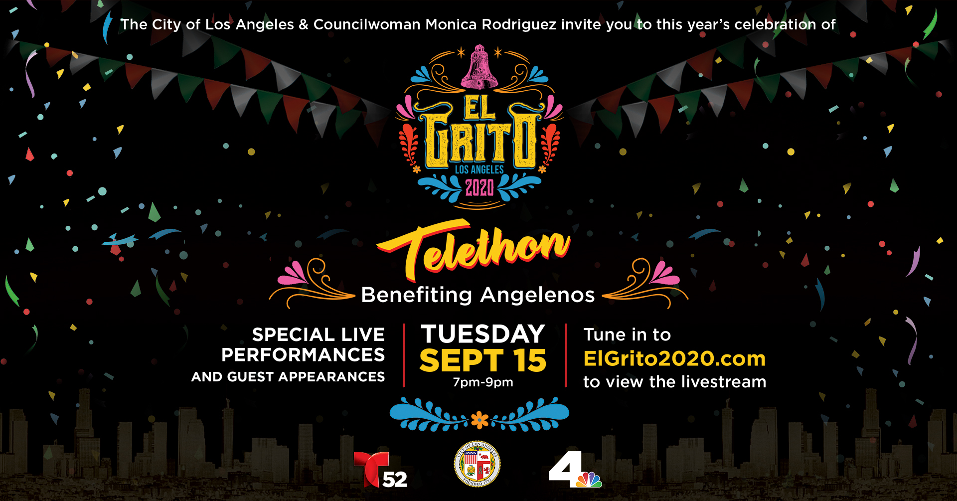 El Grito 2020 Telethon - September 15 from 7pm-9pm