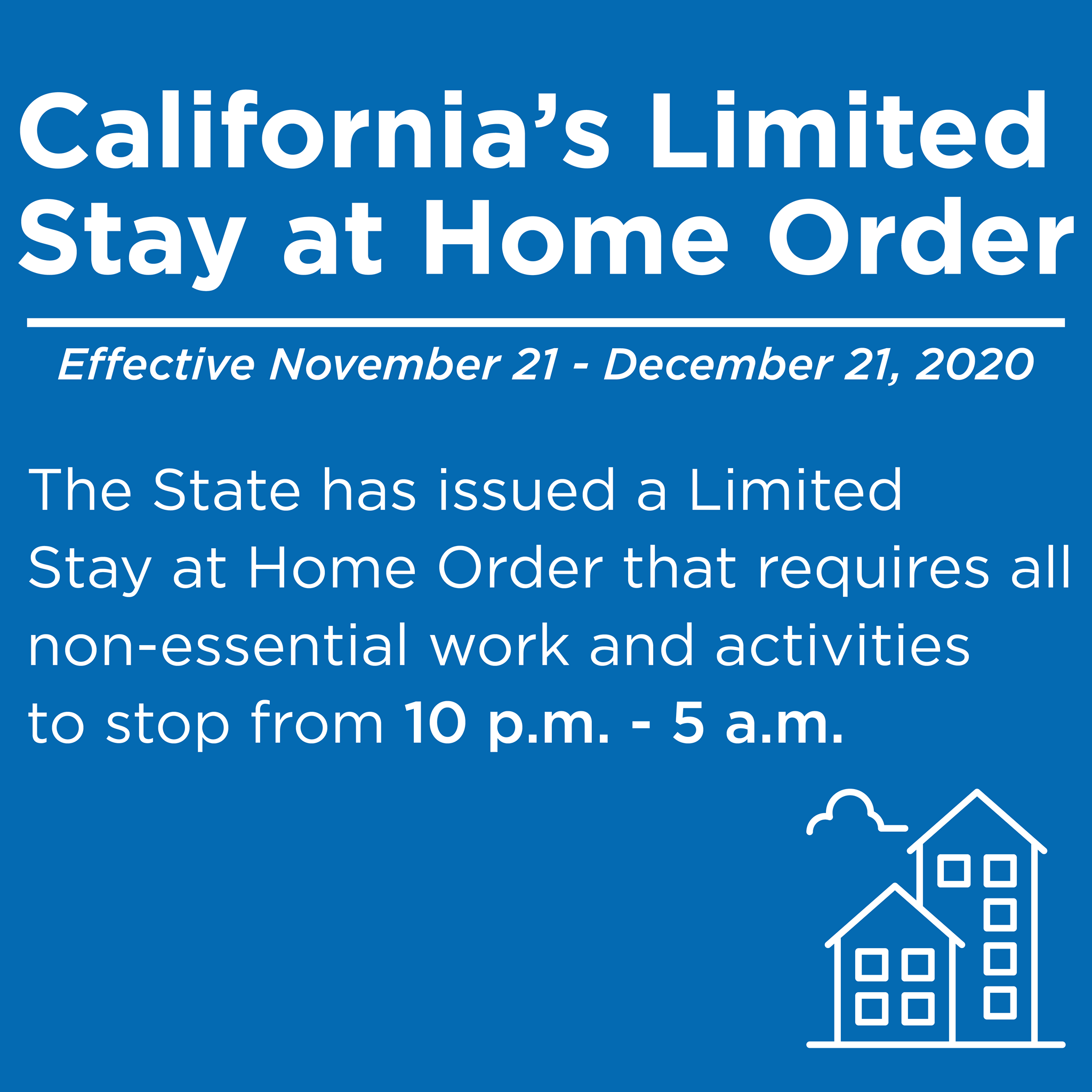 New State Issued Limited Stay At Home Orders 10pm to 5am
