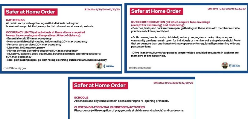 New Safer At Home Orders