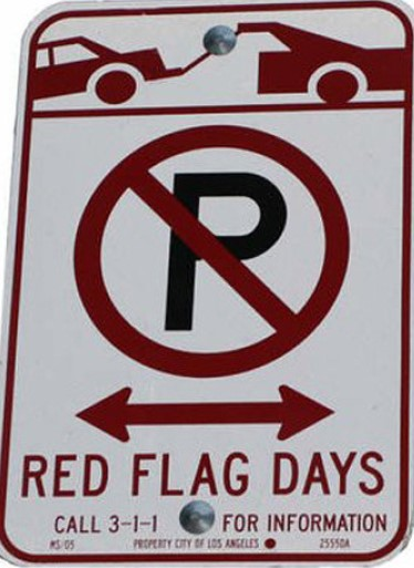 Very High Fire Hazard Severity Zone Red Flag Parking Restrictions