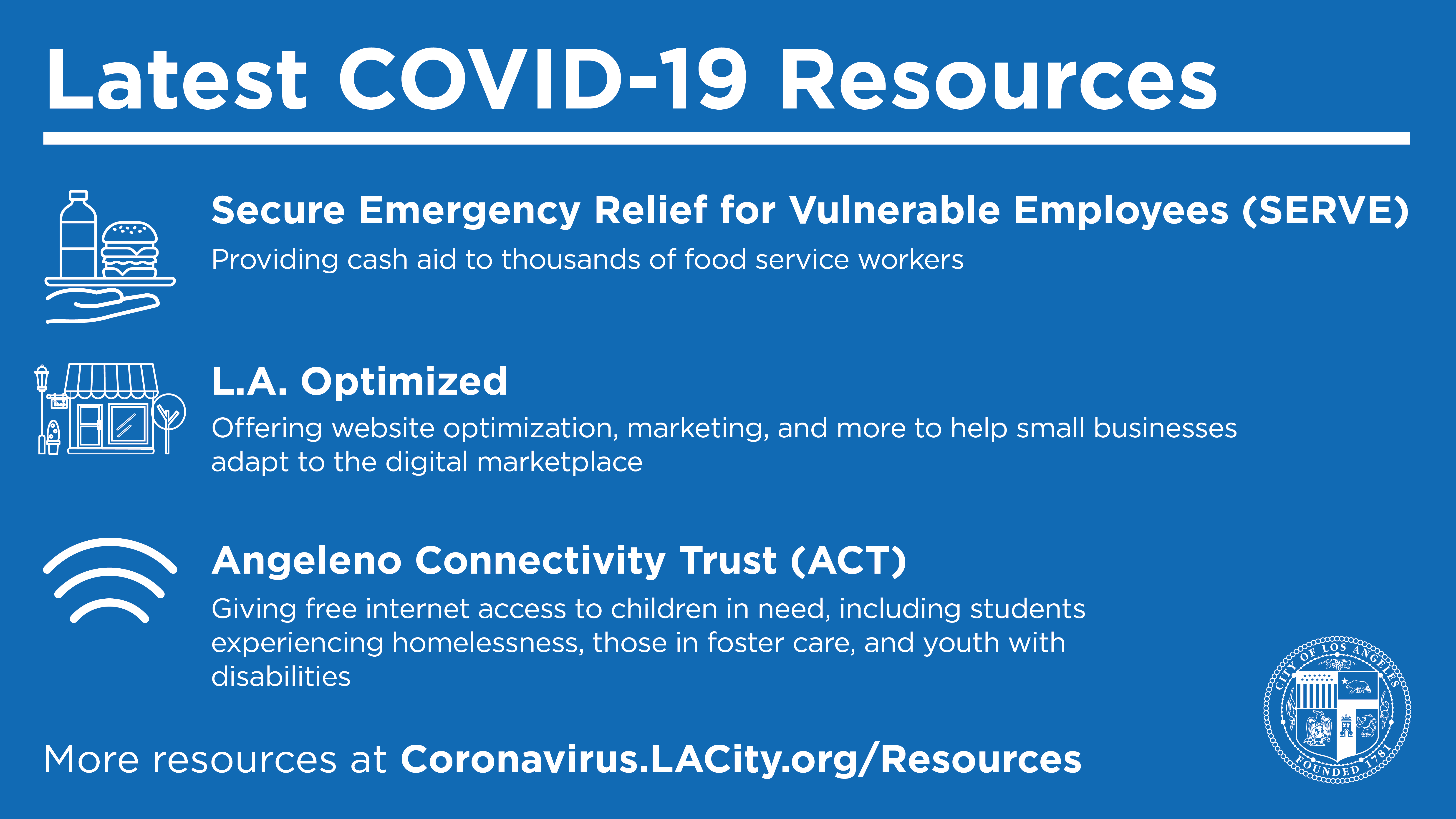 Help For Angelenos - New Programs - COVID -19 Resources