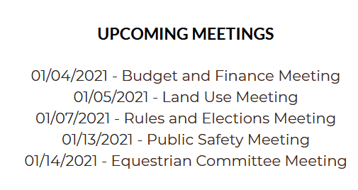 Committee Meetings  This Week