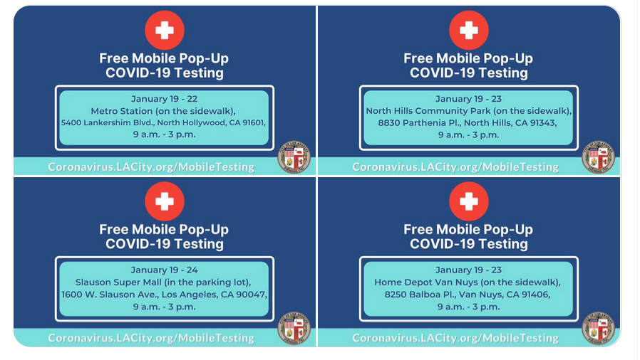 FREE - NO APPOINTMENT - MOBILE COVID-19 TESTING