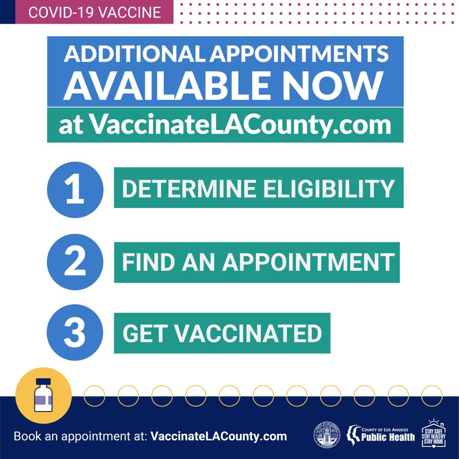 LA COUNTY RESIDENTS AGED 65+ CAN NOW RECEIVE COVID VACCINE