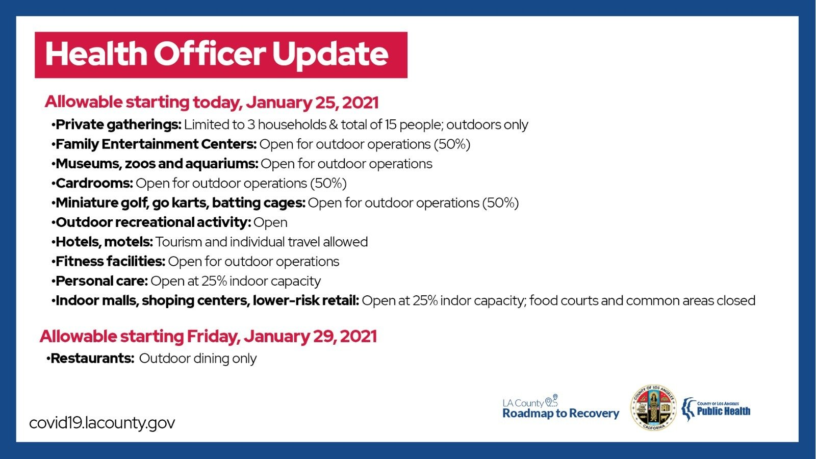 Health Officer Update From LA County